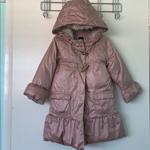 Girls pink trench/puffer coat